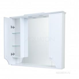 Зеркальный шкаф Элен 95 белый Aquaton 1A218602EN010
