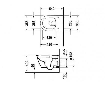 Унитаз подвесной Duravit Darling new 2557090000