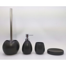 Керамический набор для ванной чёрный матовый Gid B-matt 50 33427
