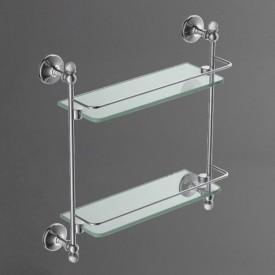 Полка стеклянная двойная подвесная ART&MAX AM-2682BSJ-Do