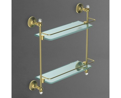 Полка стеклянная двойная подвесная ART&MAX AM-E-2682BSJ-Cr