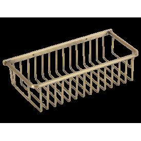 BASKET Решетка прямоугольная 13,5х30,5хh8 см., бронза