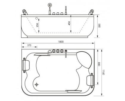 Акриловая ванна Gemy G9085 O L