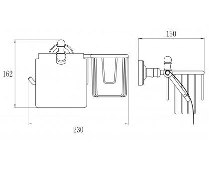 GZ-L 31031 Настенный держатель для освежителя и т/бумаги с крышкой