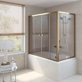 Душевая шторка на ванную Z2V+ZVF 160*75 05 05 VegasGlass