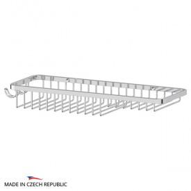 Полочка-решетка с крючками и мыльницей (хром) FBS RYN 024 28 см