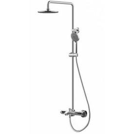 Душевая колонна с термостатическим смесителем для ванны Bravat Waterfall F639114C-A-RUS