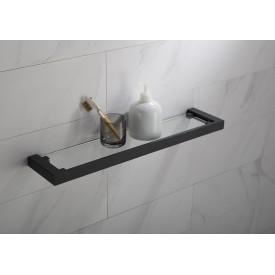 Полка в ванную стеклянная Timo Selene 14072/03 черный