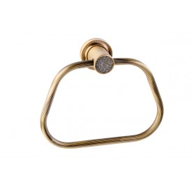 полотенцедержатель кольцо Boheme RoyalCristal 10925-BR