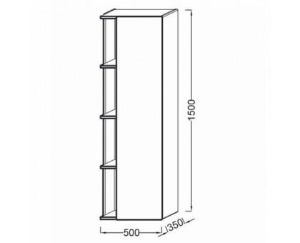 Подвесная колонна Jacob Delafon 50 см EB1179D-G1C