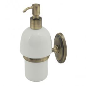 BONJOUR Дозатор жидкого мыла настенный, бронза/керамика