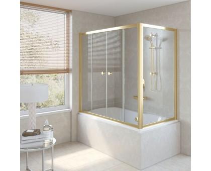 Душевая шторка на ванную Z2V+ZVF 150*90 09 01 VegasGlass