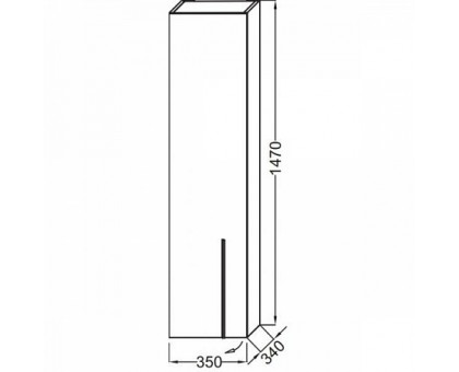 Подвесная колонна Jacob Delafon EB3047G-G1C