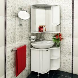 Комплект мебели для ванной Runo Бис угловой правое крыло