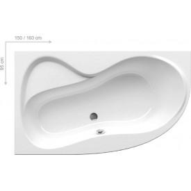 Ванна акриловая 160x95 L Ravak Rosa 95 C571000000