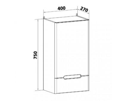 Шкаф навесной Runo Парма 40 00-00001049 правый