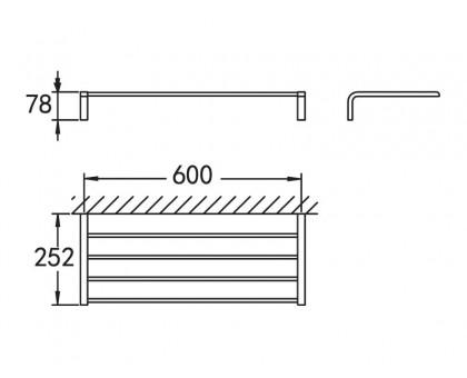 Полка для полотенец подвесная ART&MAX AM-F-8928