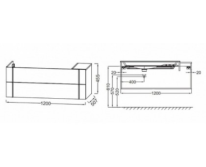 Тумба Jacob Delafon под раковину-столешницу EB3033-N18