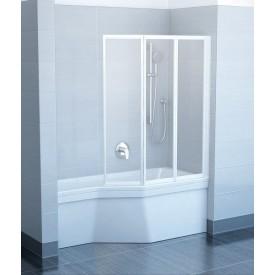 Шторка для ванны Ravak VS3 795V0100Z1 130 белая прозрачный