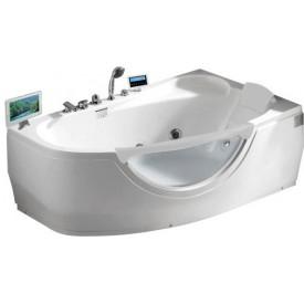 Ванна с изливом Gemy 171х99 G9046 II O R