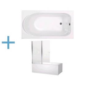 Ванна 41 см (410 мм) Aquanet West 130х70 00204051 , 00196049