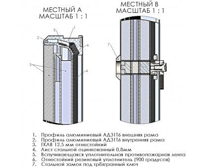 Люк Revizor сантехнический огнеупорный 1423-424 60х150