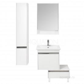 Шкаф - колонна Капри правый белый глянец Aquaton 1A230503KP01R