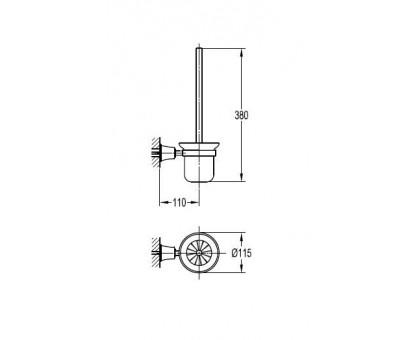 Щетка для унитаза подвесная ART&MAX AM-F-8990