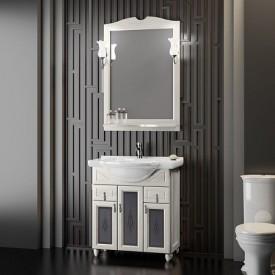 Мебель для ванной Тибет 70 Opadiris Z0000012644 (Тумба с худ.стеклом, с раковиной + зеркало)
