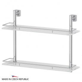 Полка 2-х ярусная (матовое стекло; хром) FBS ESP 064 50 см