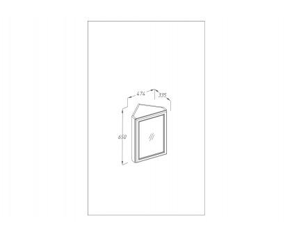 Зеркало Клио угловое, правое Opadiris 00-00000222