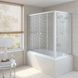 Душевая шторка на ванную Z2V+ZVF 160*85 07 R03 VegasGlass