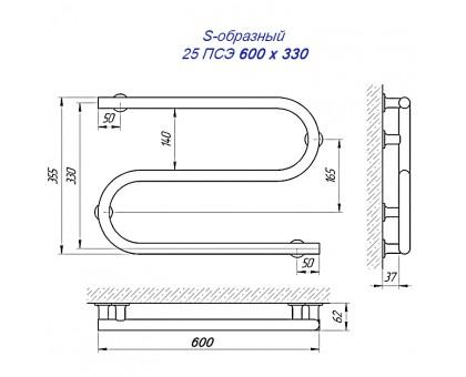 Полотенцесушитель Laris электрический 1366-1835 33х50