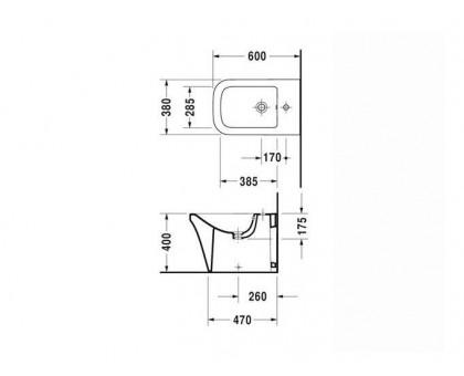 Биде напольное Duravit P3 Comforts 2269100000