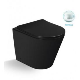 Унитаз напольный безободковый с сиденьем микролифт SantiLine SL-5020MB