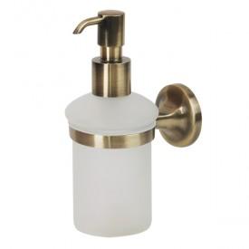 OSCAR Дозатор жидкого мыла настенный, бронза/матовое стекло