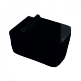 Унитаз подвесной черный безободковый с сиденьем микролифт SantiLine SL-5003B