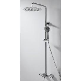Душевая колонна с термостатическим смесителем для ванны Bravat Waterfall F639114C-A3-RUS