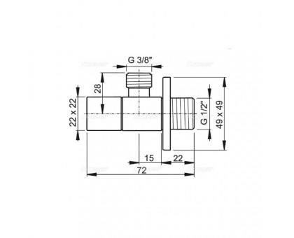 Вентиль угловой с фильтром Alcaplast ARV002