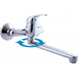 Смеситель RAV Slezаk настенный для раковины/умывальника с круглым изливом 200 мм SA001.5/23