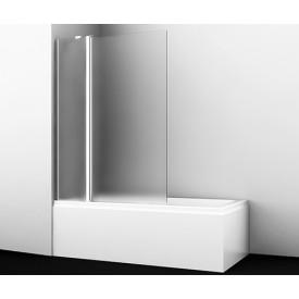 48P02-110L Matt glass Fixed Стеклянная шторка на ванну WasserKRAFT
