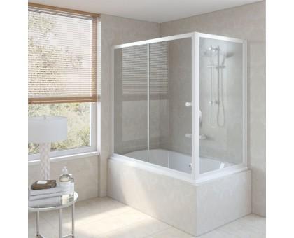 Душевая шторка на ванную ZV+ZVF 160*90 01 01 VegasGlass