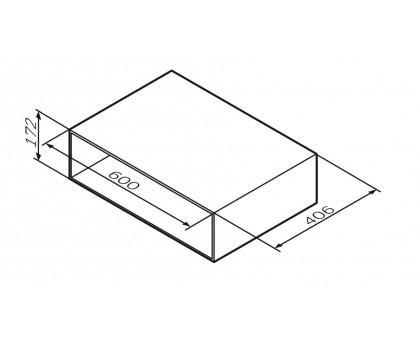 M90OHX0600WG GEM Open-space для базы подвесной 60 см цвет: белый глянец