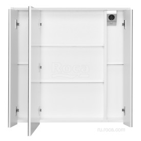 Зеркальный шкаф Roca Ronda 80 ZRU9303009 белый матовый/бетон