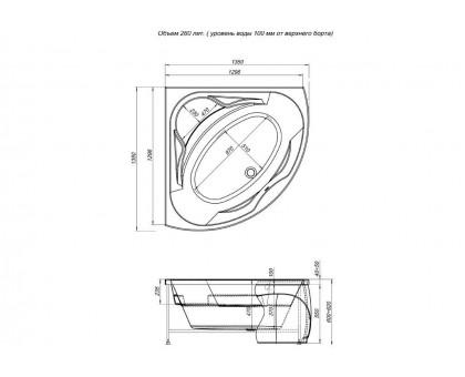 Акриловая ванна Aquanet Vitoria 130x130 00204049