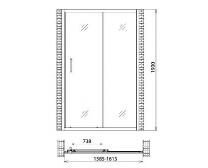 Душевая дверь Gemy Victoria S30191F