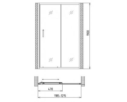 Душевая дверь Gemy Victoria S30191A