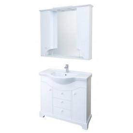 Мебель для ванной Элен 95 белый Aquaton 1A218501EN010 (Тумба + раковина + зеркало)