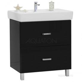 Мебель для ванной Америна 80 Н черная Aquaton 1A169401AM950 (Тумба + раковина + зеркало)