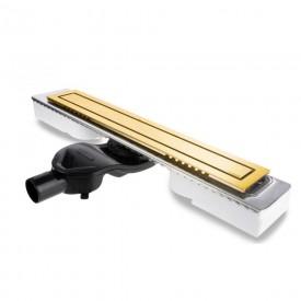 Желоб водосток TOP Stark 600 золотой глянцевый боковой
